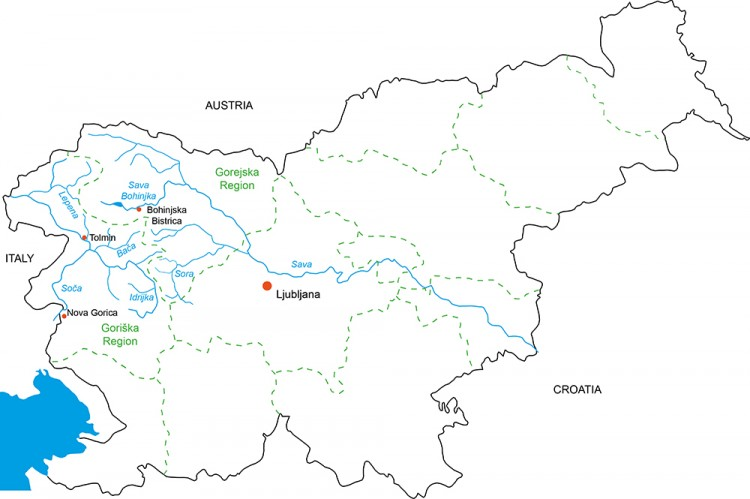 Rivers of  Slovenia
